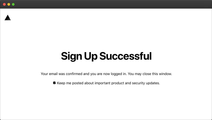ZEIT – signup success