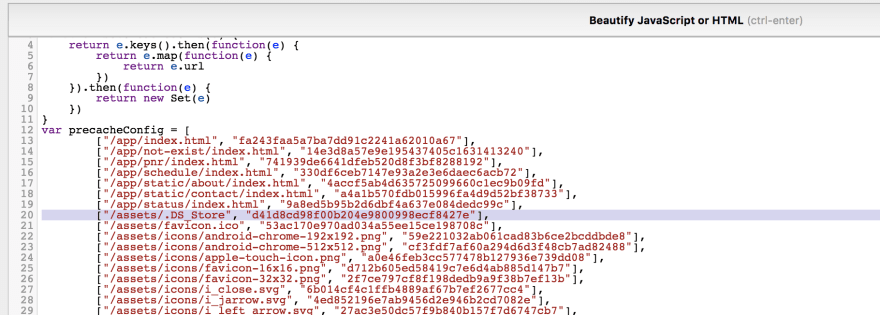 Browser is told to cache a missing .DS_Store file