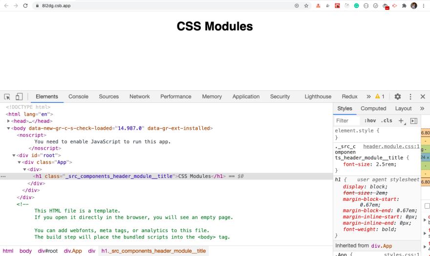 CSS Class name