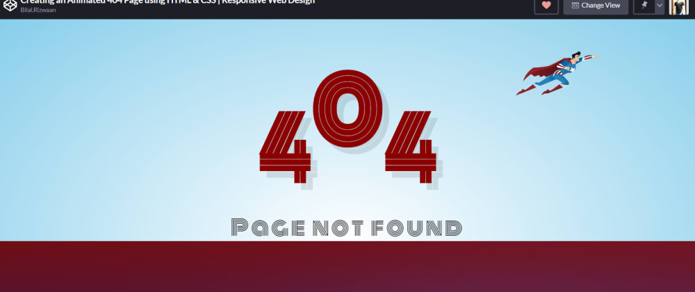 Cover image for Creating an Animated 404 Page