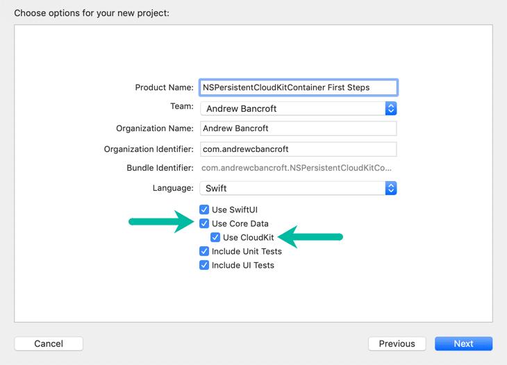 Check Use Core Data + CloudKit