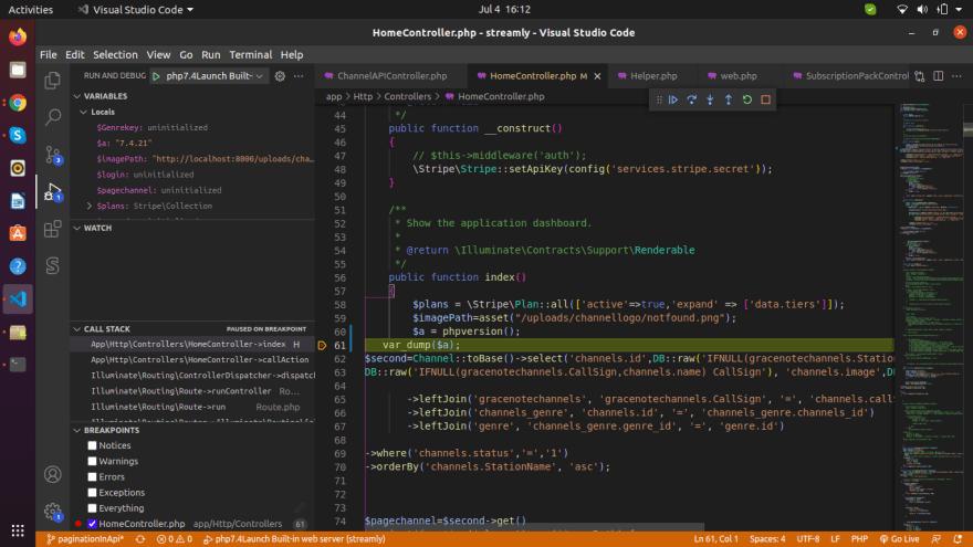 clck the debug button to check values