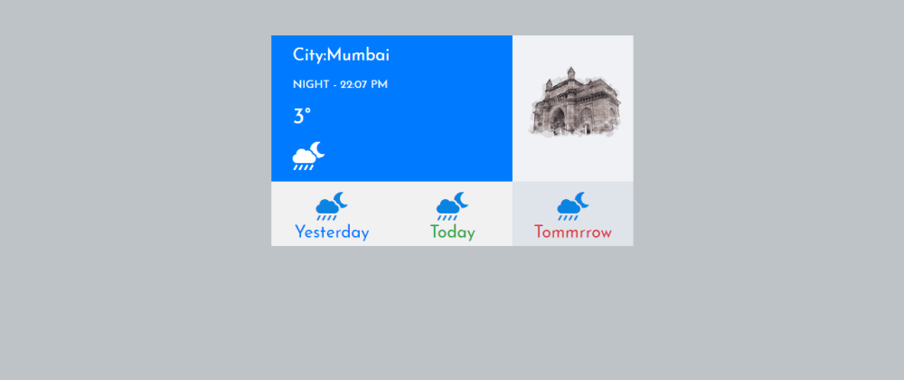 Cover image for Simple Weather Card In Bootstrap 4
