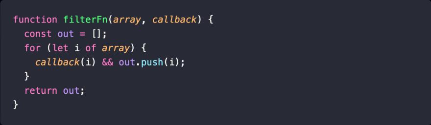 Array.filter() implementation