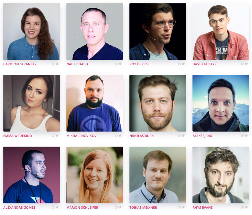 A collage of all speakers for GraphQL Day Bodensee