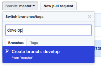 create-develop-branch