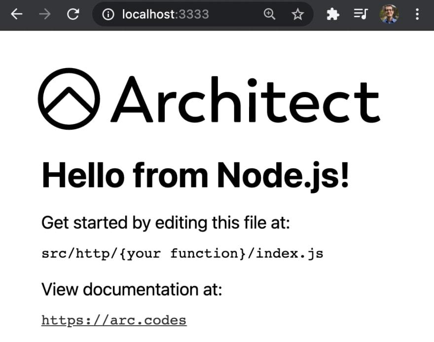 01-arc-hello-world-nodejs-localhost