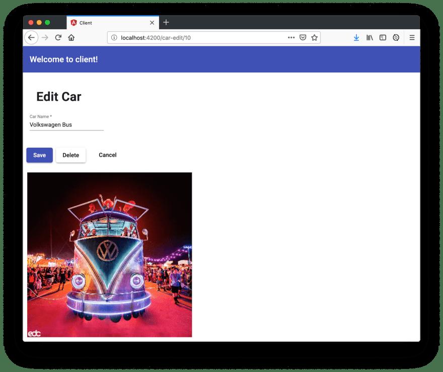Car Edit Component