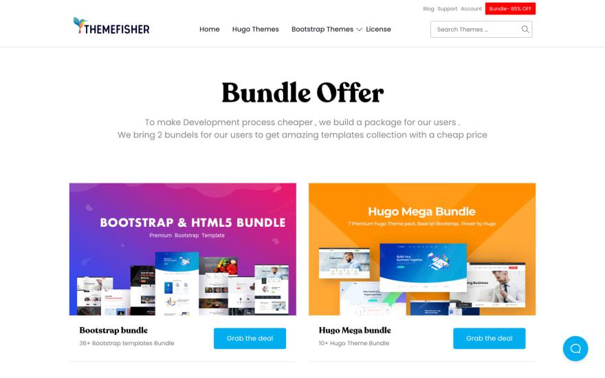 Themefisher - HTML and Hugo Templates - 85% OFF