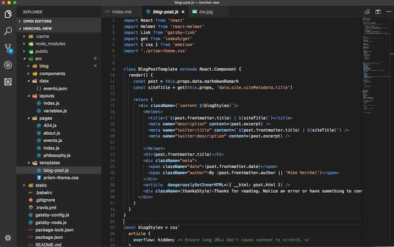 Example file tree from VS Code