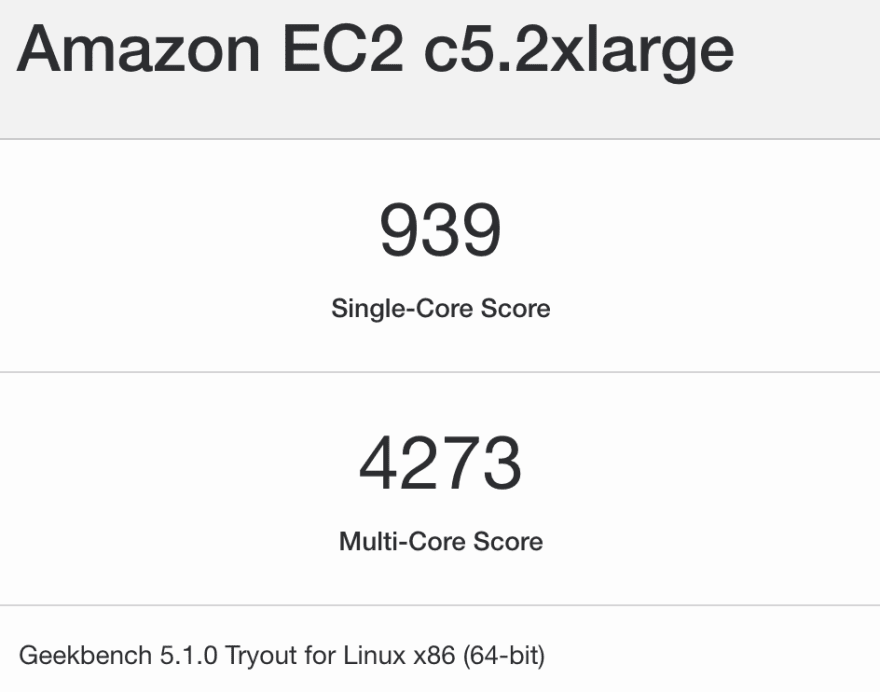 Geekbench example result