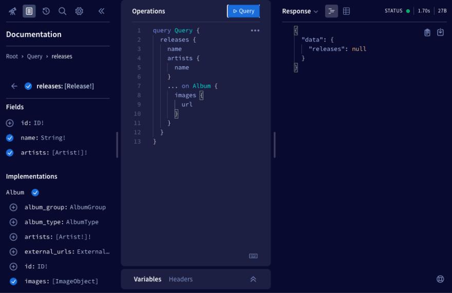 Apollo Studio query builder