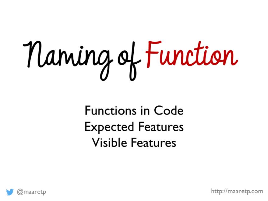 Naming of Function