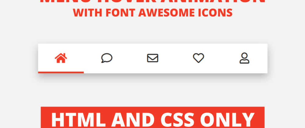 Cover image for Active Tab Hover Animation with Icons in HTML & CSS