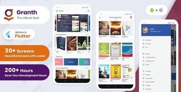 Granth – Flutter Ebook App + Admin panel