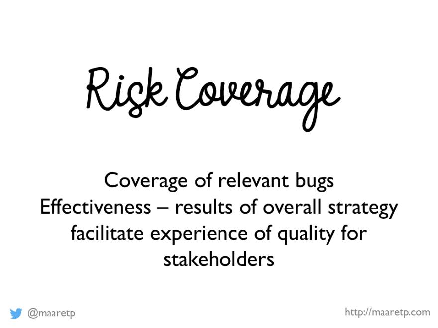Risk Coverage