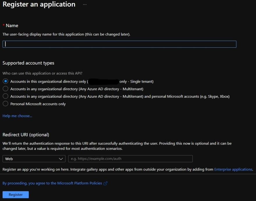 App Registration on Azure AD