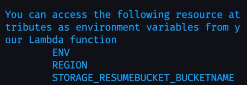 Screenshot of generated variables