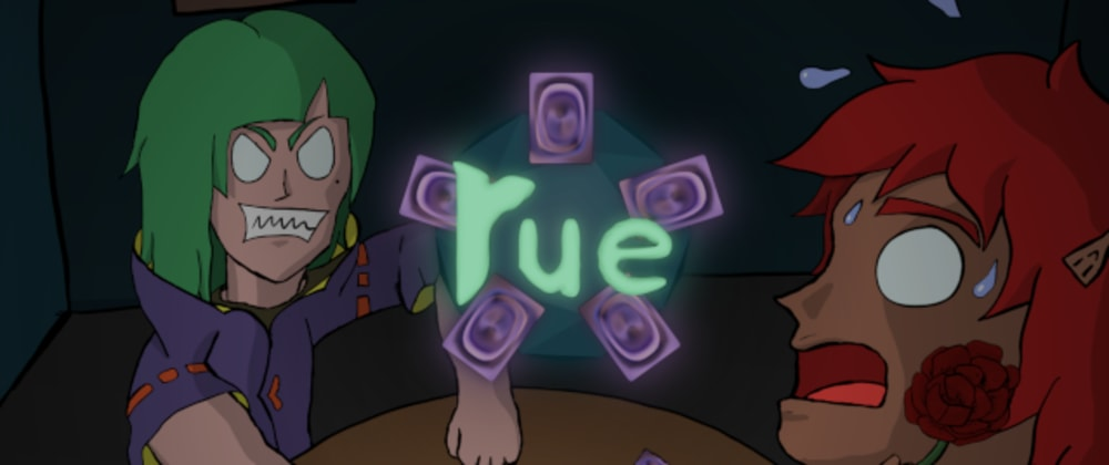 """Cover image for My newest open source video game: """"Rue"""""""