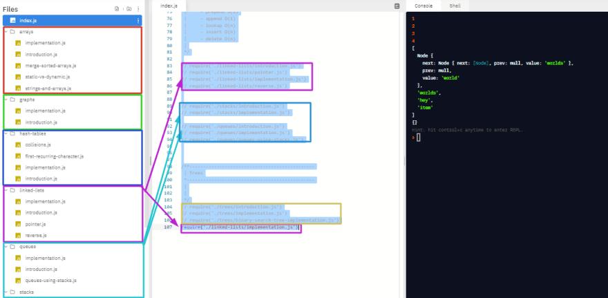 Repl.it folder structure