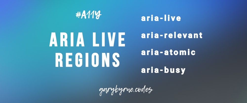 Cover image for Introduction to ARIA Live Regions