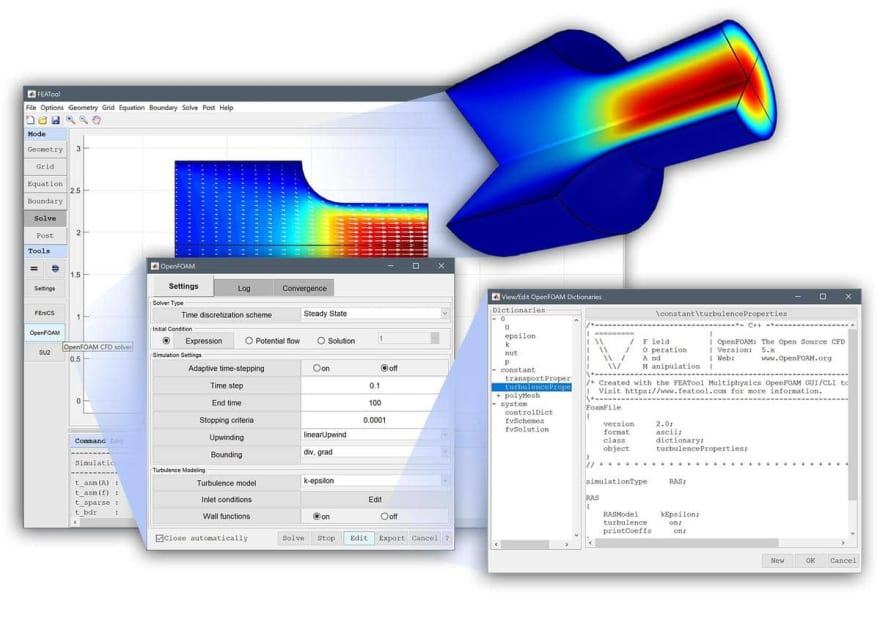 OpenFOAM GUI with FEATool Multiphysics