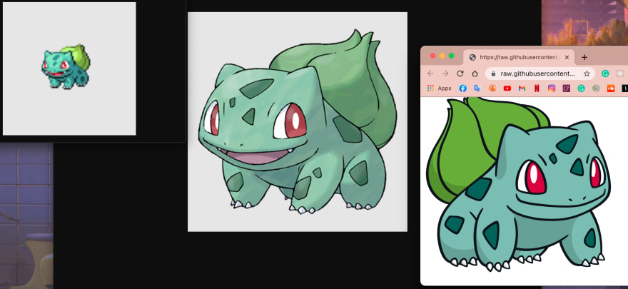 Bulbasaur images from API