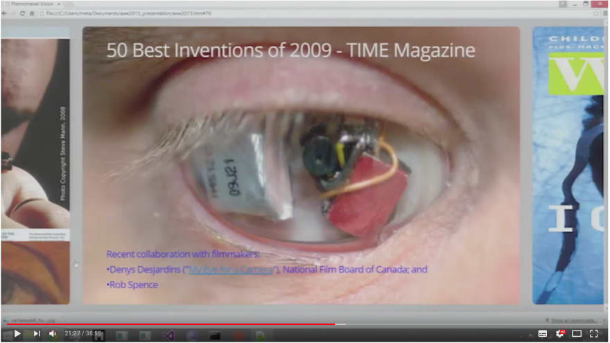 Steve Mann (Father of Wearables): Phenomenal Augmented Reality at AWE 2015