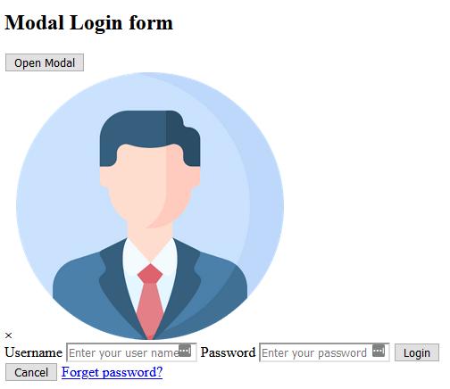 Basic HTML for a modal