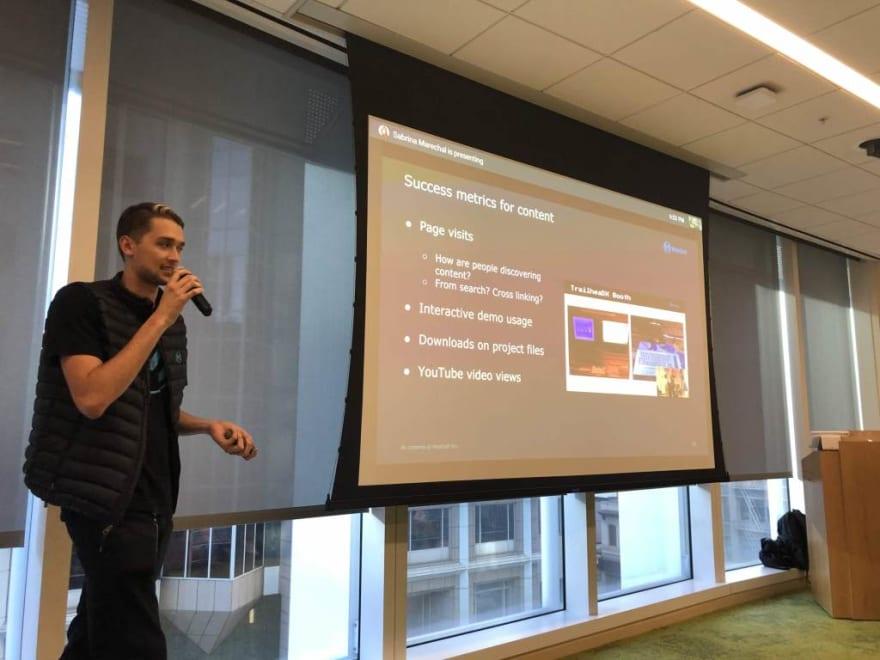 Jordan presenting