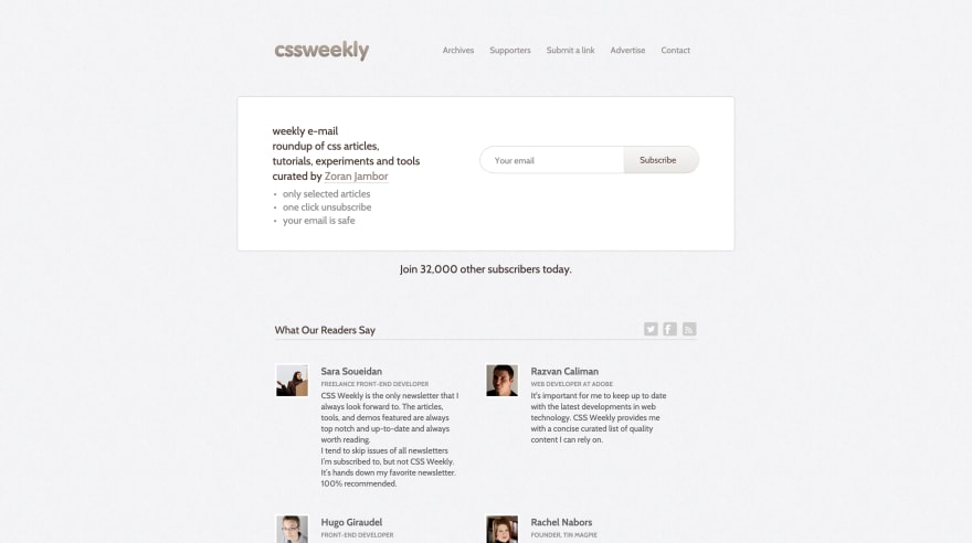 CSS Weekly Screenshot
