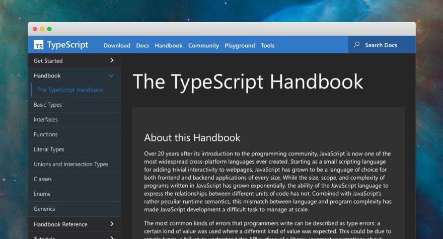 Handbook screenshot