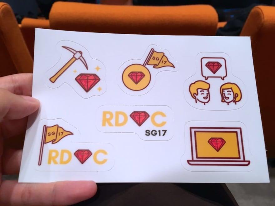 RedDotRubyConf kiss-cut stickers