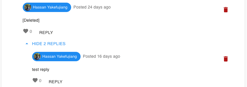 Deleted comment example