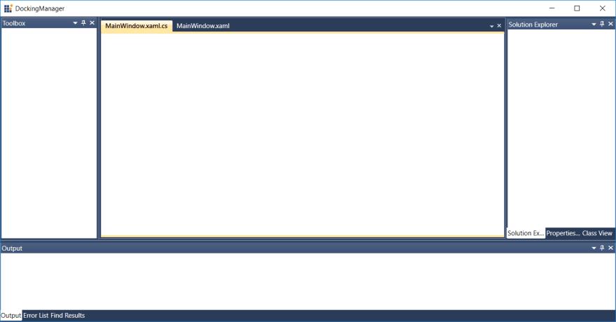 Visual Studio-Like Docking Windows