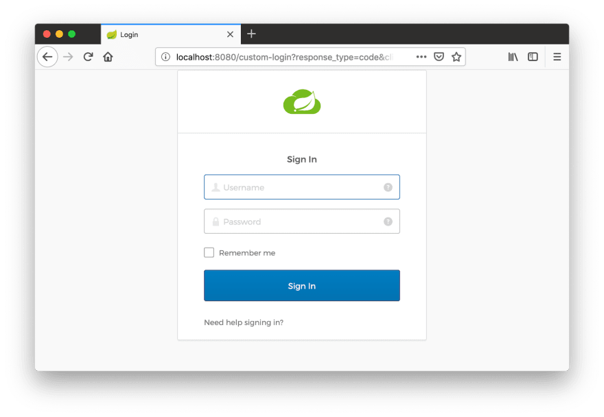 Sign-In Widget in English
