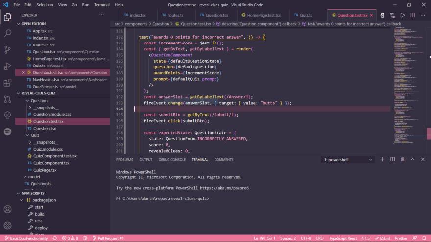 Screenshot of my VS Code setup