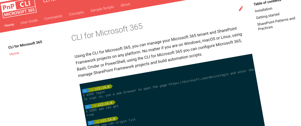 Cover image for CLI for Microsoft 365 v3.5