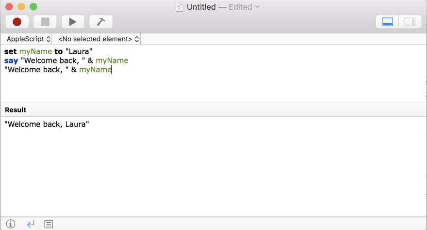 Assigning Variables in AppleScript