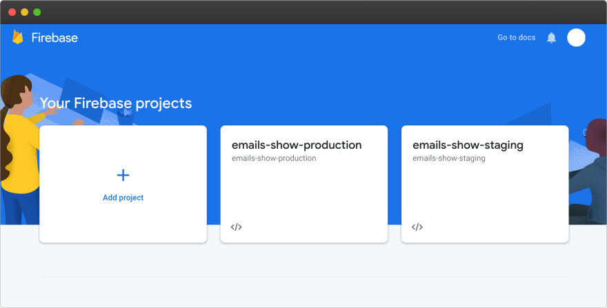 Firebase – 2 projects