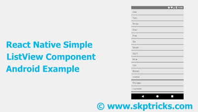 React Native Simple ListView Component Android Example - DEV
