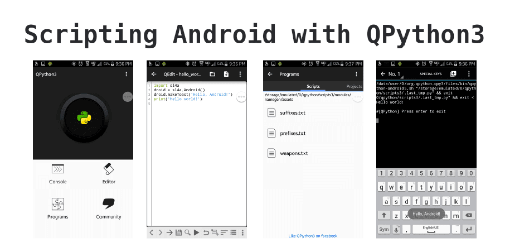 Scripting Android with QPython3 - DEV Community 👩 💻👨 💻