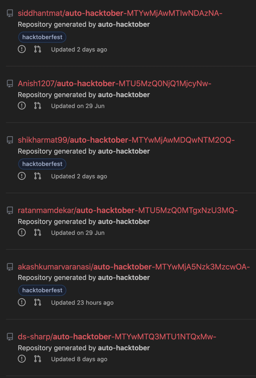 Auto Hacktoberfest images