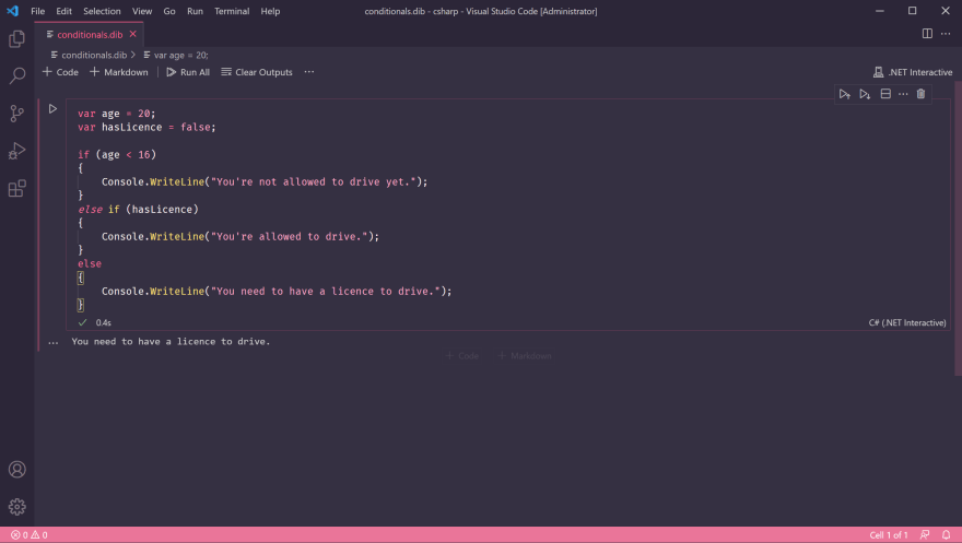 The same output, with different syntax