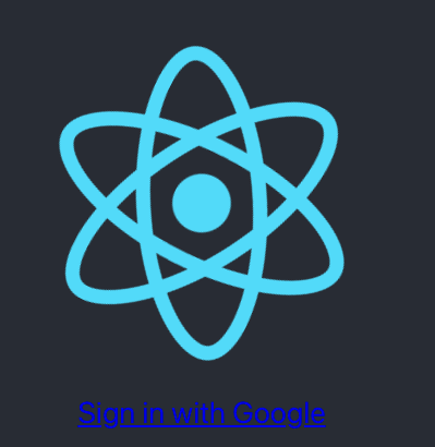 React sign in with Google