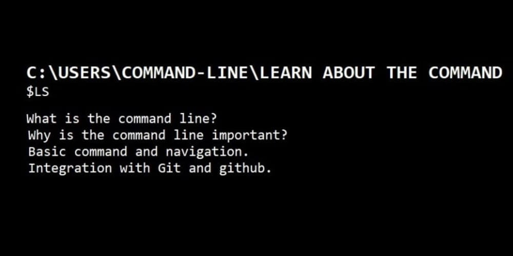 Learn about the command line.