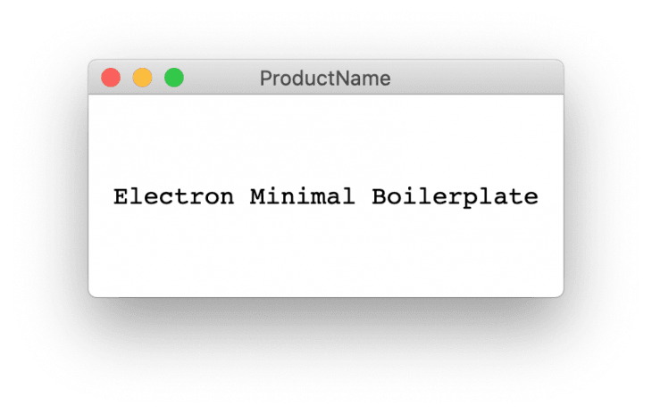 An image of the Electron Minimal Boilerplate product.
