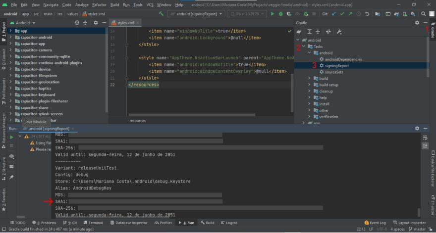 How to get SHA1 for debug apk