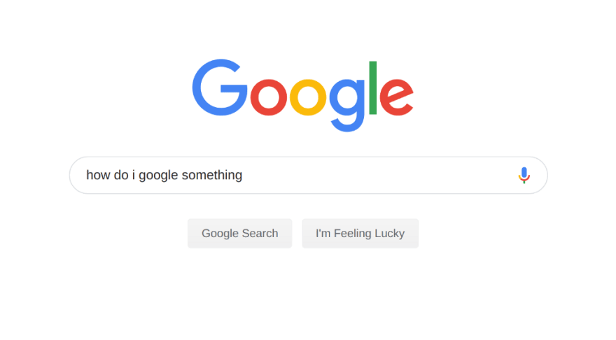 a screenshot of someone Googling how to Google something