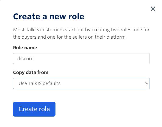 Create Role Button screenshot